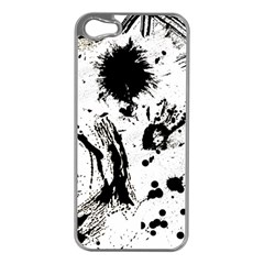 Pattern Color Painting Dab Black Apple iPhone 5 Case (Silver)