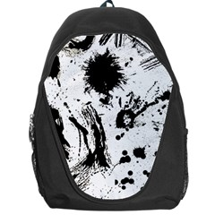 Pattern Color Painting Dab Black Backpack Bag