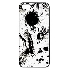 Pattern Color Painting Dab Black Apple iPhone 5 Seamless Case (Black)