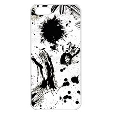 Pattern Color Painting Dab Black Apple iPhone 5 Seamless Case (White)