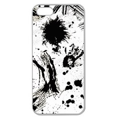 Pattern Color Painting Dab Black Apple Seamless iPhone 5 Case (Clear)