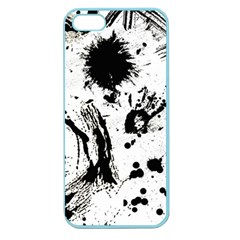 Pattern Color Painting Dab Black Apple Seamless iPhone 5 Case (Color)