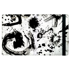 Pattern Color Painting Dab Black Apple iPad 2 Flip Case