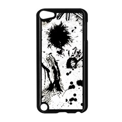 Pattern Color Painting Dab Black Apple iPod Touch 5 Case (Black)