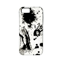 Pattern Color Painting Dab Black Apple iPhone 5 Classic Hardshell Case (PC+Silicone)