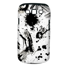 Pattern Color Painting Dab Black Samsung Galaxy S III Classic Hardshell Case (PC+Silicone)