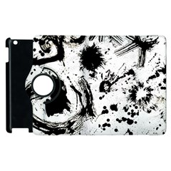 Pattern Color Painting Dab Black Apple iPad 2 Flip 360 Case