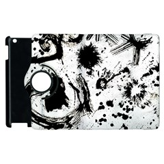 Pattern Color Painting Dab Black Apple iPad 3/4 Flip 360 Case