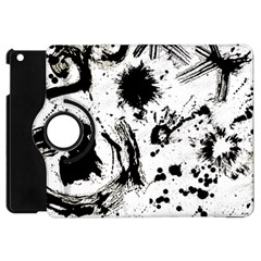 Pattern Color Painting Dab Black Apple iPad Mini Flip 360 Case