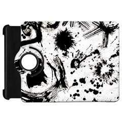 Pattern Color Painting Dab Black Kindle Fire HD 7