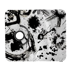Pattern Color Painting Dab Black Galaxy S3 (Flip/Folio)