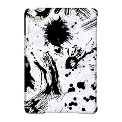 Pattern Color Painting Dab Black Apple iPad Mini Hardshell Case (Compatible with Smart Cover)
