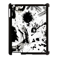 Pattern Color Painting Dab Black Apple iPad 3/4 Case (Black)