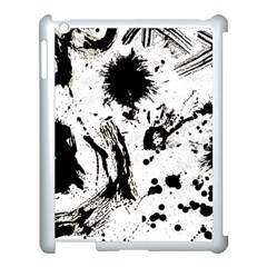 Pattern Color Painting Dab Black Apple iPad 3/4 Case (White)