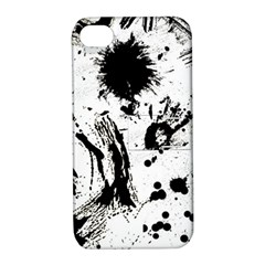 Pattern Color Painting Dab Black Apple iPhone 4/4S Hardshell Case with Stand