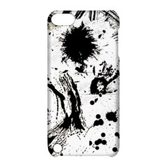 Pattern Color Painting Dab Black Apple iPod Touch 5 Hardshell Case with Stand