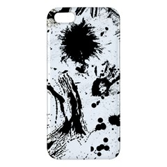 Pattern Color Painting Dab Black Apple iPhone 5 Premium Hardshell Case