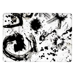 Pattern Color Painting Dab Black Samsung Galaxy Tab 10.1  P7500 Flip Case