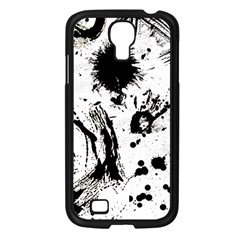 Pattern Color Painting Dab Black Samsung Galaxy S4 I9500/ I9505 Case (Black)