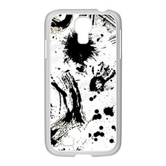 Pattern Color Painting Dab Black Samsung GALAXY S4 I9500/ I9505 Case (White)