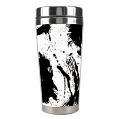 Pattern Color Painting Dab Black Stainless Steel Travel Tumblers