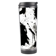 Pattern Color Painting Dab Black Travel Tumbler