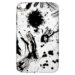 Pattern Color Painting Dab Black Samsung Galaxy Tab 3 (8 ) T3100 Hardshell Case