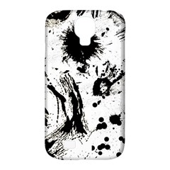 Pattern Color Painting Dab Black Samsung Galaxy S4 Classic Hardshell Case (PC+Silicone)