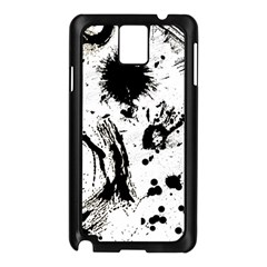 Pattern Color Painting Dab Black Samsung Galaxy Note 3 N9005 Case (Black)