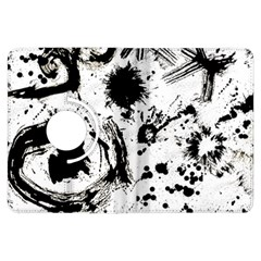 Pattern Color Painting Dab Black Kindle Fire HDX Flip 360 Case