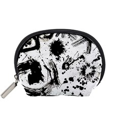 Pattern Color Painting Dab Black Accessory Pouches (Small)