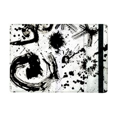 Pattern Color Painting Dab Black iPad Mini 2 Flip Cases