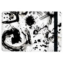 Pattern Color Painting Dab Black iPad Air Flip