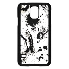 Pattern Color Painting Dab Black Samsung Galaxy S5 Case (Black)