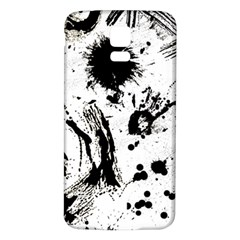 Pattern Color Painting Dab Black Samsung Galaxy S5 Back Case (White)
