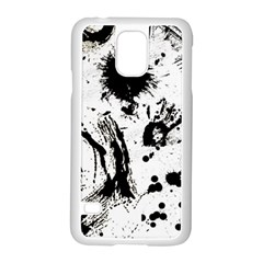 Pattern Color Painting Dab Black Samsung Galaxy S5 Case (White)
