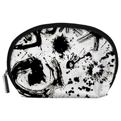 Pattern Color Painting Dab Black Accessory Pouches (Large)