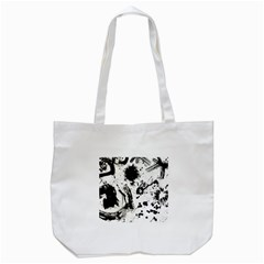 Pattern Color Painting Dab Black Tote Bag (White)