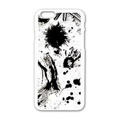 Pattern Color Painting Dab Black Apple iPhone 6/6S White Enamel Case