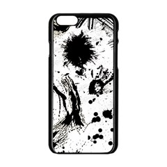 Pattern Color Painting Dab Black Apple iPhone 6/6S Black Enamel Case