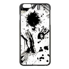 Pattern Color Painting Dab Black Apple iPhone 6 Plus/6S Plus Black Enamel Case