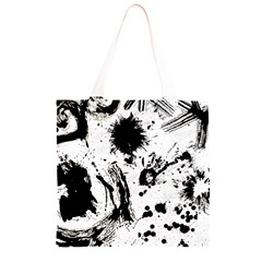 Pattern Color Painting Dab Black Grocery Light Tote Bag