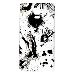 Pattern Color Painting Dab Black Galaxy Note 4 Back Case