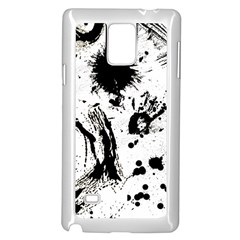 Pattern Color Painting Dab Black Samsung Galaxy Note 4 Case (White)