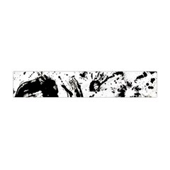 Pattern Color Painting Dab Black Flano Scarf (Mini)