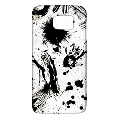 Pattern Color Painting Dab Black Galaxy S6