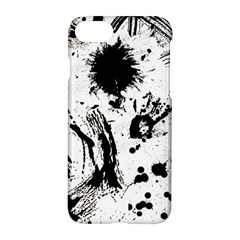 Pattern Color Painting Dab Black Apple iPhone 7 Hardshell Case
