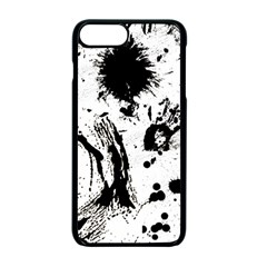 Pattern Color Painting Dab Black Apple iPhone 7 Plus Seamless Case (Black)