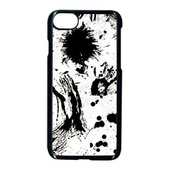 Pattern Color Painting Dab Black Apple iPhone 7 Seamless Case (Black)