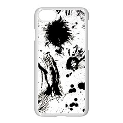 Pattern Color Painting Dab Black Apple iPhone 7 Seamless Case (White)
